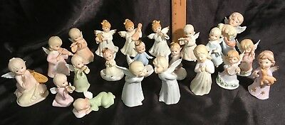 Mixed Lot 26x Vintage Lefton China Porcelain Angel Figurines Christmas Decor NOS
