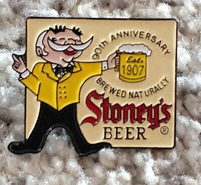 Stoney's Beer 90th Anniversary Pin Old Smoothie Jones Brewing Company Stoneys