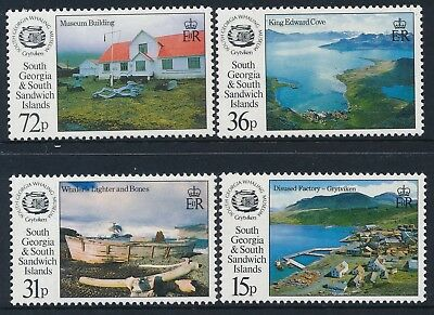1993 South Georgia Opening Of The Whaling Museum Set Of 4 Fine Mint Mnh