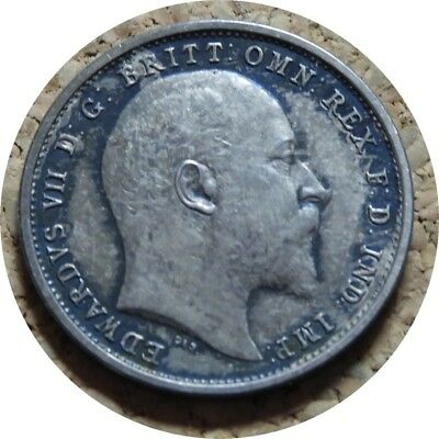 elf  Great Britain 4 Pence 1902 Silver  Edward VII   Maundy