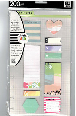 MAMBI Create365 The Happy Planner - STICKY NOTES - WATERCOLOUR - 200 pc