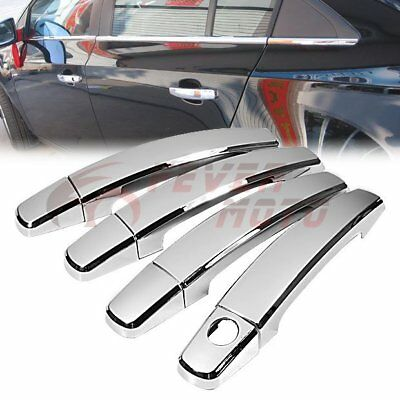 Chrome Side Door Handle Cover For Chevy Cruze 10-15 / Malibu 13-15/ Aveo 07-10FM