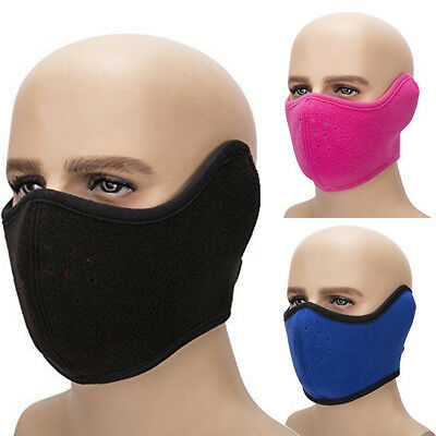 Men Women Winter Warm Mask Fleece Earmuffs Riding Ski Snowboard Half Face Mask
