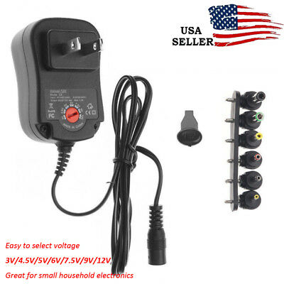 12W US Plug Universal Adapter AC/DC 3V/4.5V/6V/7.5V/9V/12V 1.5A Power Supply US