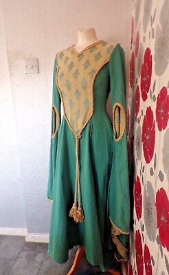 Vintage Quality Ex Theatre Medieval /gothic Style Dress With Fine Design Size 10