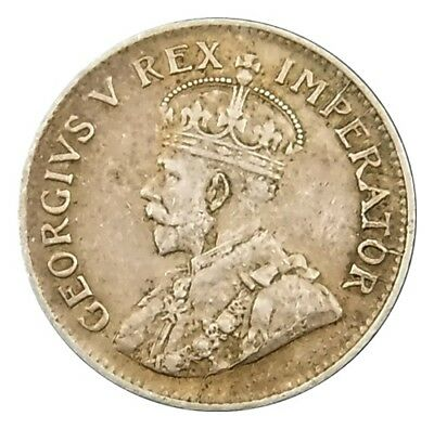 South Africa 1930 Threepence : King George V British Empire Silver Coin