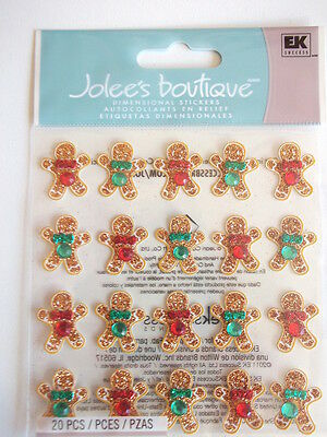 Jolee's Boutique 3D stickers - Ginger Bread Repeats - Gingerbread Men Christmas