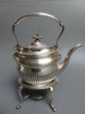 H&I Silverplate small  teapot or Hot water pot with silverplate heating stand