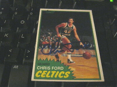 Chris Ford Signed Autograph Card 1981-82 Topps Basketball Celtics