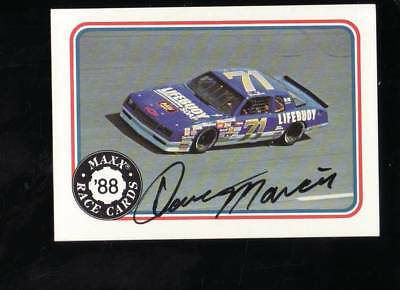 Dave Marcis  1988 Maxx Racing Signed Autograph Card Lifebuoy Chevy