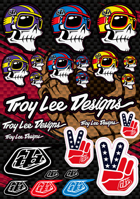 TROY LEE DESIGNS DECALS STICKERS TLD MX Motocross Dirt Bike Bomb Racing ATV A4
