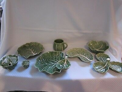 Bordallo Pinheiro Cabbage Dark Green Dinnerware CHOICE