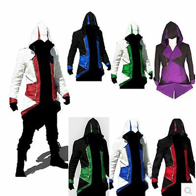 2018 Men's Cosplay For Assassins Jacket Coat Costume Cool Stylish Creed Hoodie