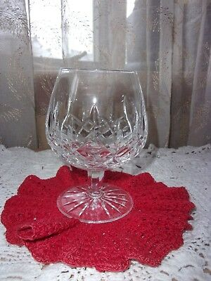 "Genuine Waterford Crystal Lismore brandy snifter glass 5.25"" EUC"