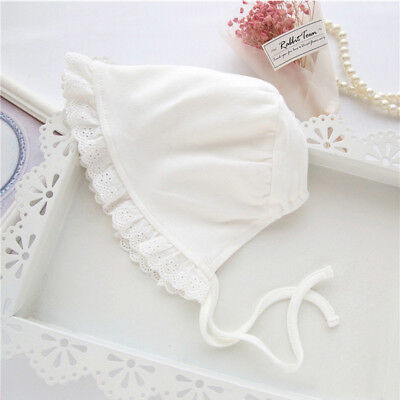 Newborn Baby Sweet Princess Hat Beanie Lace Up Photography Hat Accessory CB