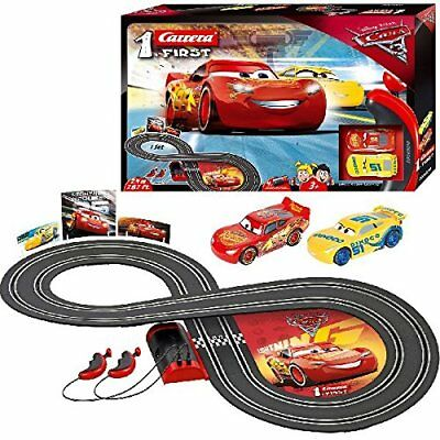 Disney Pixar Cars 3 Carrera First Slot Car Electric Racing Track Toy Age New