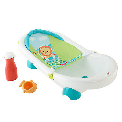 Fisher Price Grow with Me Infant Toddler Baby Go Wild Bath Bathroom Tub Bathtub
