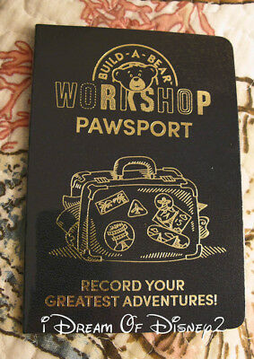NEW Build-A-Bear PAWSPORT ADVENTURE PASSPORT Teddy Toy Accessory w STICKERS