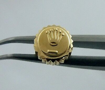 14K Datejust 6mm Rolex Watch Crown Part 1601 16013 3/4 Turn on threads