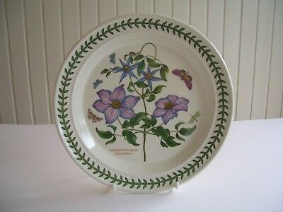 "Portmeirion Botanic Garden - 1 x 10.5"" Dinner Plate - Clematis Florida -  UNUSED"