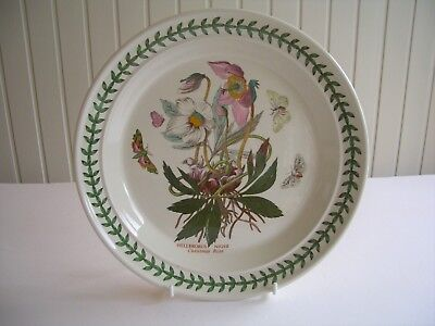 "Portmeirion Botanic Garden - 1 x 10.5"" Dinner Plate - Christmas Rose -  UNUSED?"