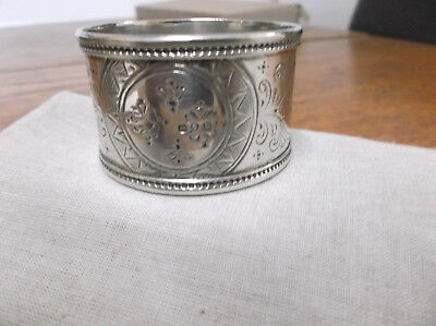 A Large   Victorian   Sterling Silver   Napkin Ring   London 1881