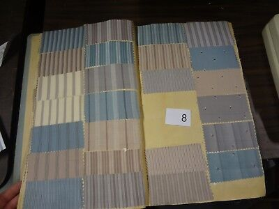 Antique Vintage fabric French sample swatch book printed cotton 1935 shirt # 8