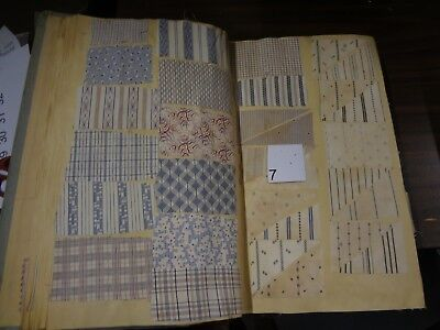 Antique Vintage fabric French sample swatch book printed cotton 1935 shirt # 7