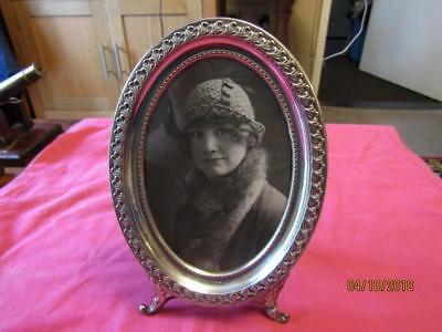 Antique Silver Oval Frame Marked 800