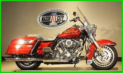 2010 Harley-Davidson Touring 2010 FLHR Road-King Red Hot Sunglo Bagger 2010 Harley-Davidson Touring FLHR Road King Red Hot Sunglo