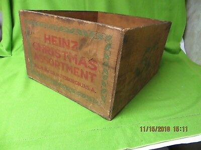 Vintage Rare Heinz 57 Ketchup Christmas Assortment Wooden Wood Crate Pittsburgh