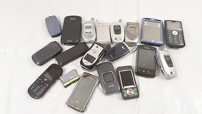 Lot Assorted of Used Flip Phones Android Cell Phone Lot for Parts
