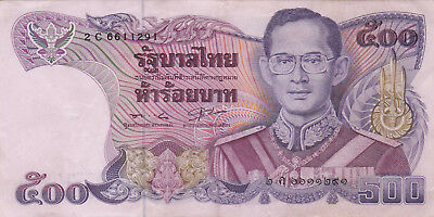 500 Baht Extra Fine Crispy Banknote From Thailand 1988-96!!!pick-91