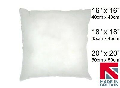 """NEW Cushion Pads Inners Fillers Scatters 16"""" 18"""" 20"""" Hollowfibre Inserts FREE PP"""