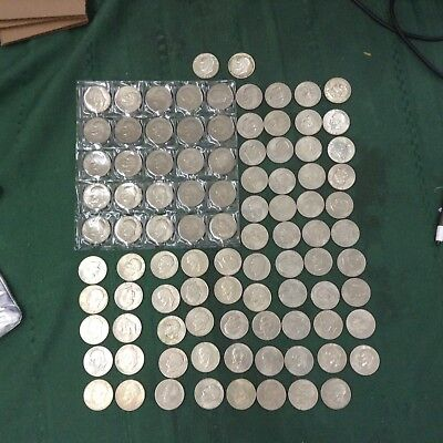 Collection of 91 Eisenhower Dollars .. Free Shipping.. Lot#110