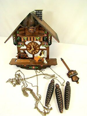 Vintage Wood Cuckoo Clock ~ Made In Germany W/ Swiss Musical Movement