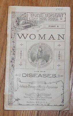 1894 Antique Medical Book Woman and Her Diseases World's Dispensary Dime Series