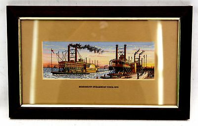 CASH 'Mississippi Steamboat Circa' Decorative Woven EMBROIDERY Artwork - N39