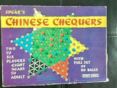 Chinese chequers Spears Games Full Set Of 60 Balls Vintage