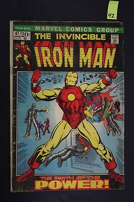 Vintage 1972 Marvel No. 47 The Invincible Iron Man Comic Book PS42
