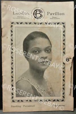 "1927 Florence Mills Jazz cabaret entertainer in ""Black Birds "" London programme"