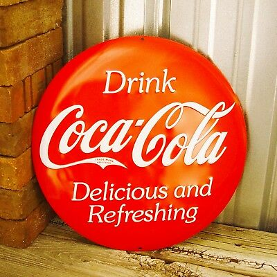 Coke Coca-Cola Drink Soda 3D Metal Tin Sign Vintage Decor Kitchen Embossed Disk