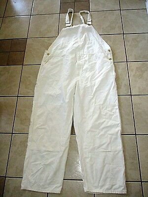 CARHARTT R34 NAT (R01) NATURAL Washed Drill DOUBLE KNEE BIB OVERALLS PANTS 48x30