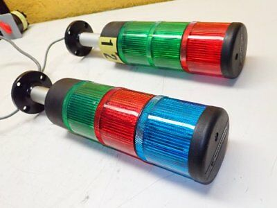 Lot of 2 Telemecanique3 Stack Light Tower /Green/Red/Blue Stackable W191?