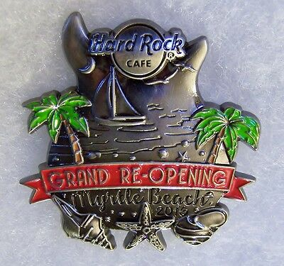 Hard Rock Cafe Myrtle Beach Grand Re-Opening Sailboat Trees Shells Pin # 90806