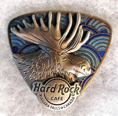 Hard Rock Cafe Niagara Falls Canada 3D Pewter Moose Guitar Pick Pin # 91337