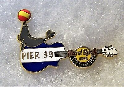 Hard Rock Cafe San Francisco Pier 39 Sea Lion With Beach Ball Guitar Pin # 95244