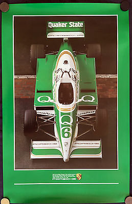 Porsche Indy Car First Official Announcement Showroom Poster 1988 Usa Rare New
