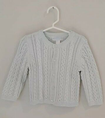 Janie and Jack Cardigan/Knitted Sweater for baby girl, Size 12-18 Months lt blue