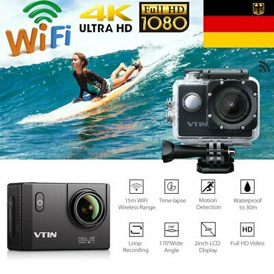 4K 16MP HD WiFi Sports Kamera Wasserdicht Action DV Cam Helmkamera mit Accessory